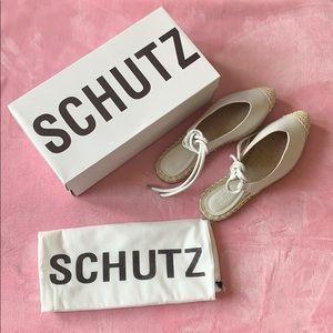 Schutz women white leather shoes 5.5B